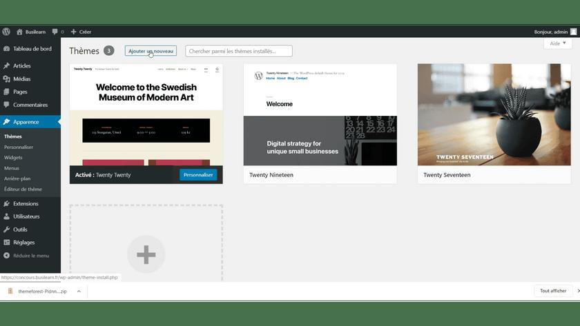 bouton ajouter theme wordpress