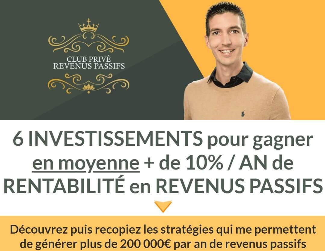 Club Privé Revenus Passifs de Maxence Rigottier